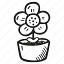 floral, flower, nature, plant, potted icon