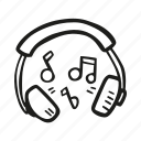 audio, listening, music, sound icon