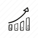analytics, chart, graph, growth, progress icon