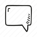 blank, bubble, chat, message, speech, square icon