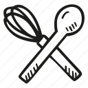 food, kitchen, restaurant, spoon, whisk icon