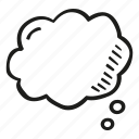 blank, bubble, chat, cloud, message, think icon