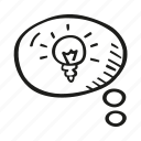 bubble, idea, new, think icon