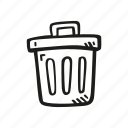 bin, delete, dustbin, garbage, remove, trash icon