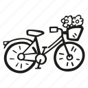 bicycle, bike, cycle, cycling, tourism, transport, travel icon