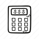 accounting, calculate, calculation, calculator, finance, math, money icon