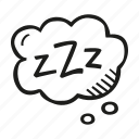 bubble, sleep, sleeping, think, zzz icon