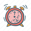 alarm, clock, time, timer, wake up icon