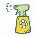 clean, cleaner, cleaning, spray, washing icon