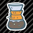 chemex, coffe, coffee, drink icon