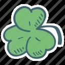 clover, flower, leaf, plant icon