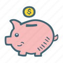 bank, business, finance, money, piggy, savings icon
