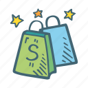 bags, business, shop, shopping icon