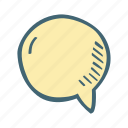 blank, bubble, chat, round, speech icon