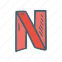netflix, streaming icon