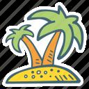 beach, holiday, island, summer, vacation icon