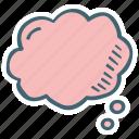 blank, bubble, cloud, shape, think icon