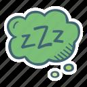 bubble, sleep, think, zzz icon