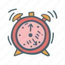 alarm, clock, time, wake up icon