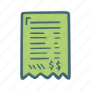 bill, finance, money, payment icon