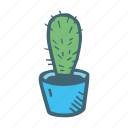 cactus, flower, nature, plant, potted icon