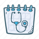 appointment, calendar, date, doctor, event, schedule icon