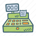 business, cash, money, payment, register icon
