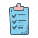 check, checklist, clipboard, document, list icon