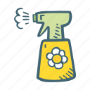 clean, cleaner, cleaning, housekeeping, spray icon