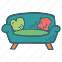 comfy, couch, furniture, home, households, sofa icon