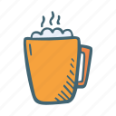 beverage, cocoa, drink, hot, marshmallow icon