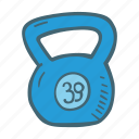 fitness, gym, health, kettlebell, weight icon