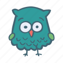 animal, bird, owl, smart, wise icon