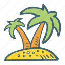 beach, island, summer, travel, vacation icon