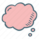 blank, bubble, cloud, message, shape, think icon