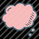 shape, blank, message, bubble, think, cloud
