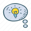 bubble, chat, idea, new, think icon
