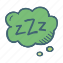 bubble, chat, sleep, think, zzz icon