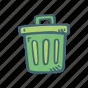 delete, dustbin, garbage, rubbish, trash, waste icon
