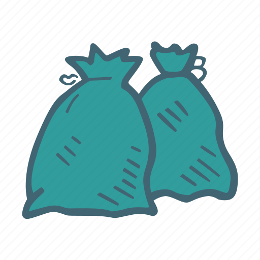 bags, dustbin, garbage, recycle, trash, waste icon