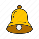 alarm, bell, notification, ringer icon
