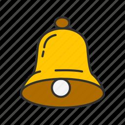 alarm, bell, notification, ringer icon