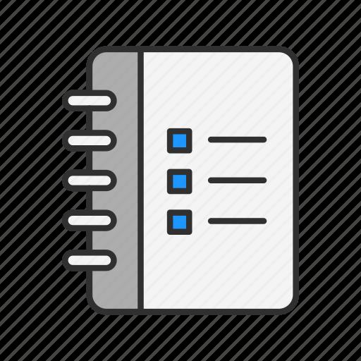 checklist, menu, note, table icon