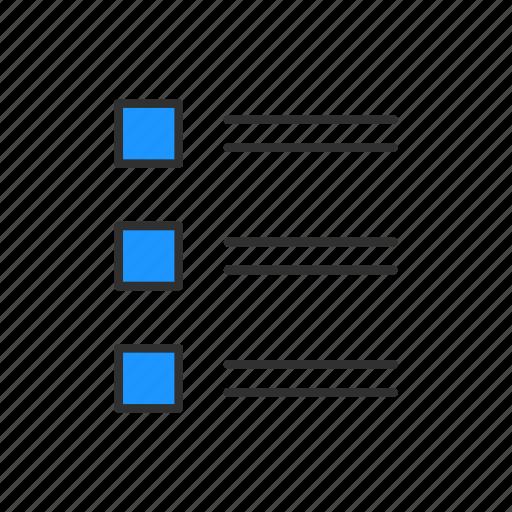 checklist, list, menu, notes icon