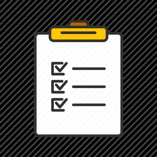 board, checklist, menu, table icon