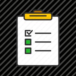 clipboard, list, menu, notes icon
