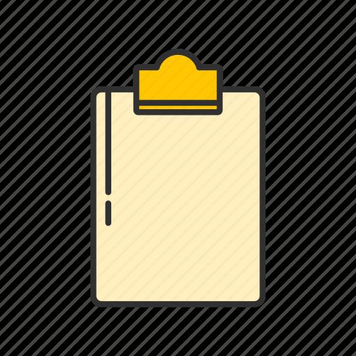 board, clipboard, list, notes icon