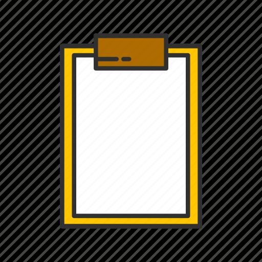 checklist, menu, notes, table icon
