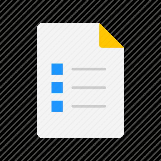 checklist, list, notes, to do list icon