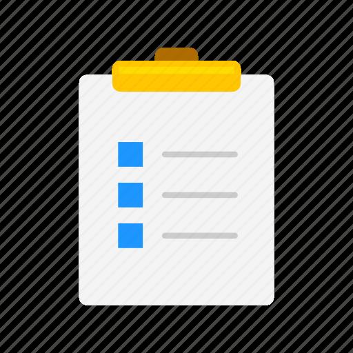 checklist, clipboard, notes, to do list icon